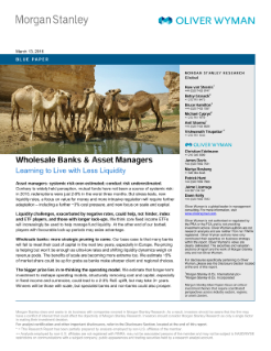 Wholesale Banks and Asset Managers – Learning to Live with Less Liquidity - germany