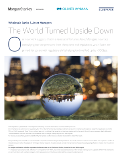 Wholesale Banks & Asset Managers, The World Turned Upside Down