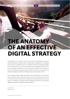 The anatomy of an effective digital strategy