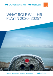 What role will HR play in 2020-2025?